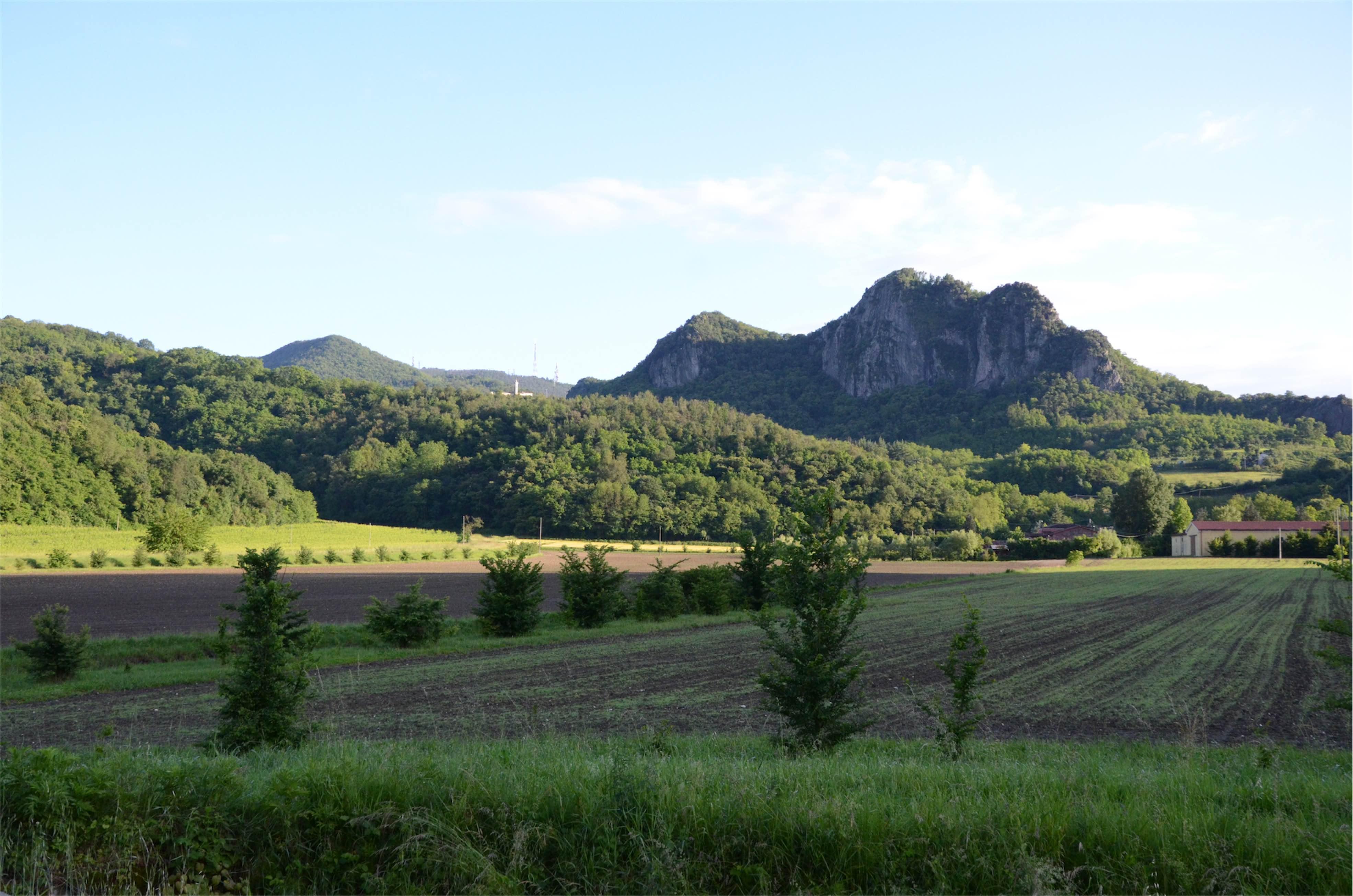 Krajobraz Colli Euganei w regionie Veneto w północnych Włoszech