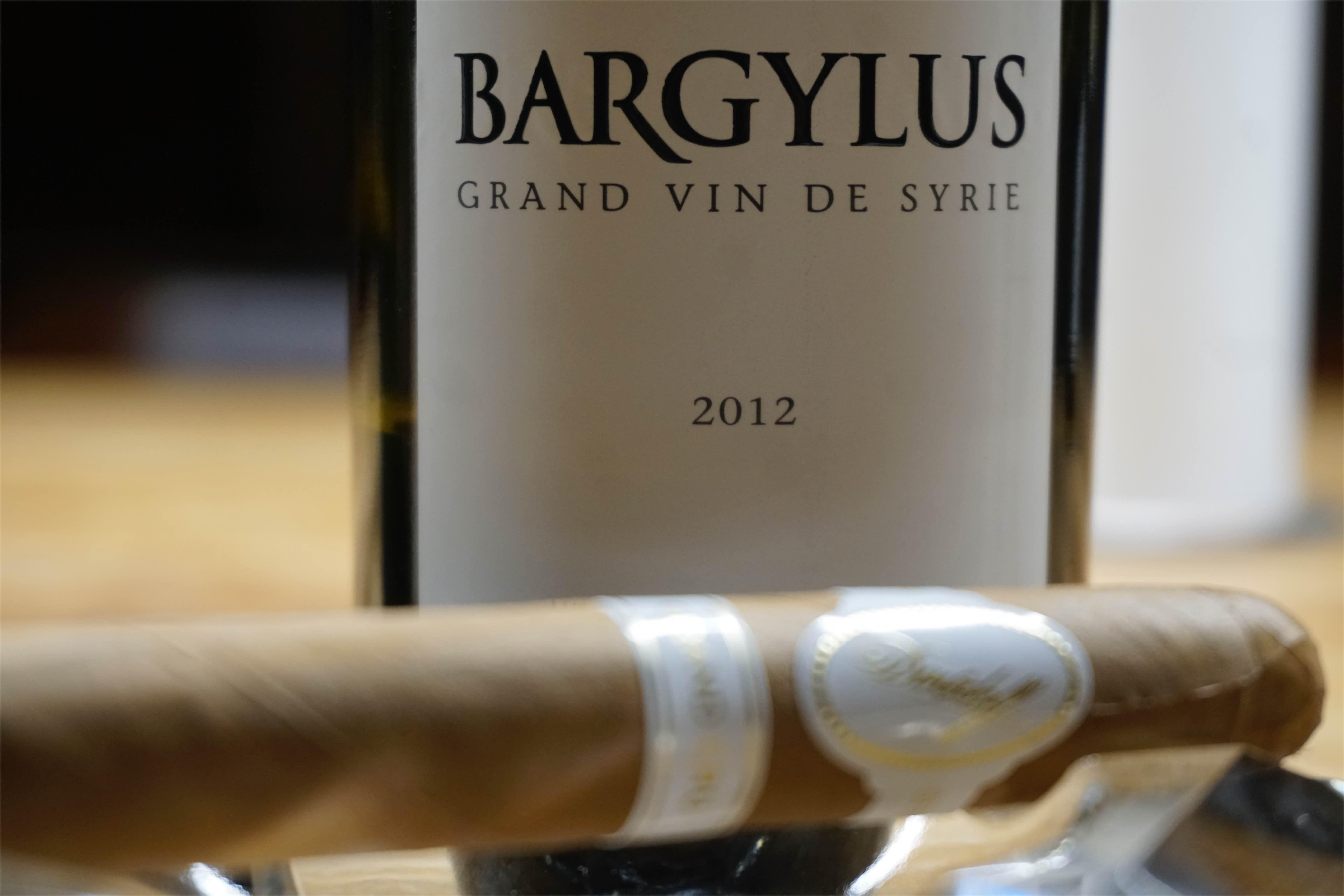 Wino Bargylus - cygaro i wino